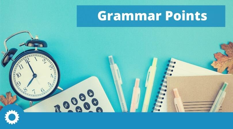 test-english-home-Grammar-points